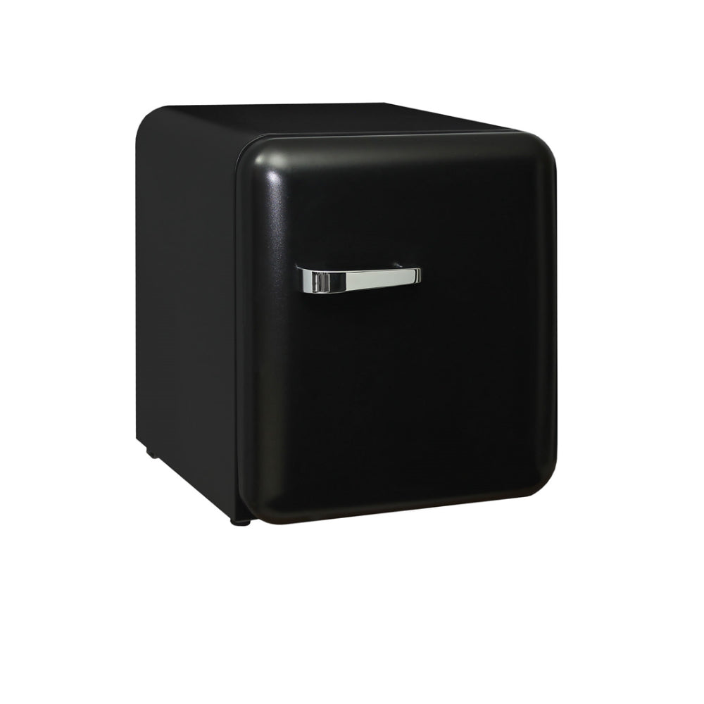 Bar Fridge - Schmick Mini Retro Style Black Bar Fridge 46Litre Very Quiet -Energy Efficient And Matte Black Finish Is Nice.