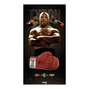 Mike Tyson Personally Signed Boxing Glove, Framed - Limited Edition