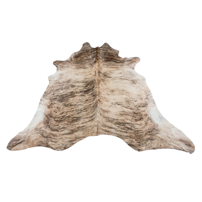 Rug - LIGHT BRINDLE - BEIGE COLOURED LARGE PREMIUM COWHIDE RUG