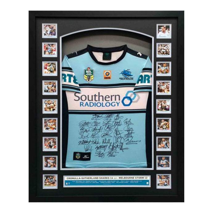 Memorabilia - Cronulla Sharks 2016 NRL Premiers Team-Signed Jersey - AMA Authenticity