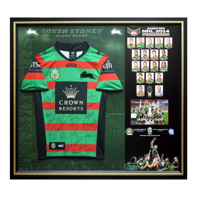 Memorabilia - South Sydney Rabbitohs 2014 Premiers Team Signed Jersey