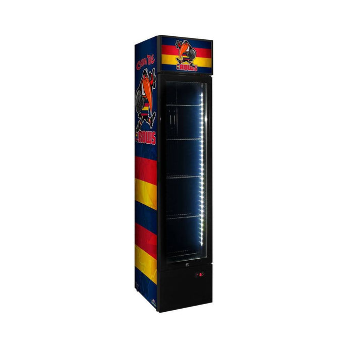 Bar Fridge - Adelaide Crows Weg Art Footy Branded Skinny Upright Bar Fridge - 15 Teams Available **Product Is Not Endorsed By AFL Or Featured Club**