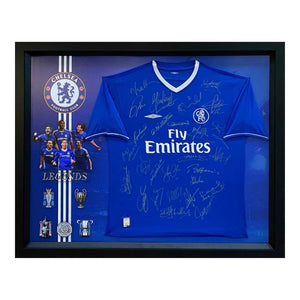 "Memorabilia - Chelsea ""The Legends"" Personally Signed Jersey - Hoddle, Zola, Petit"