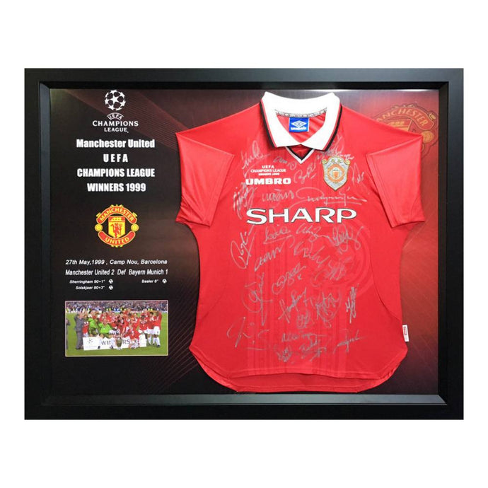 Memorabilia - Manchester United Team-Signed Champions League Victory Jersey, 1999