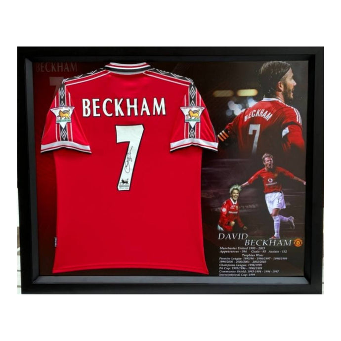 Memorabilia - David Beckham Personally Signed Manchester United Jersey