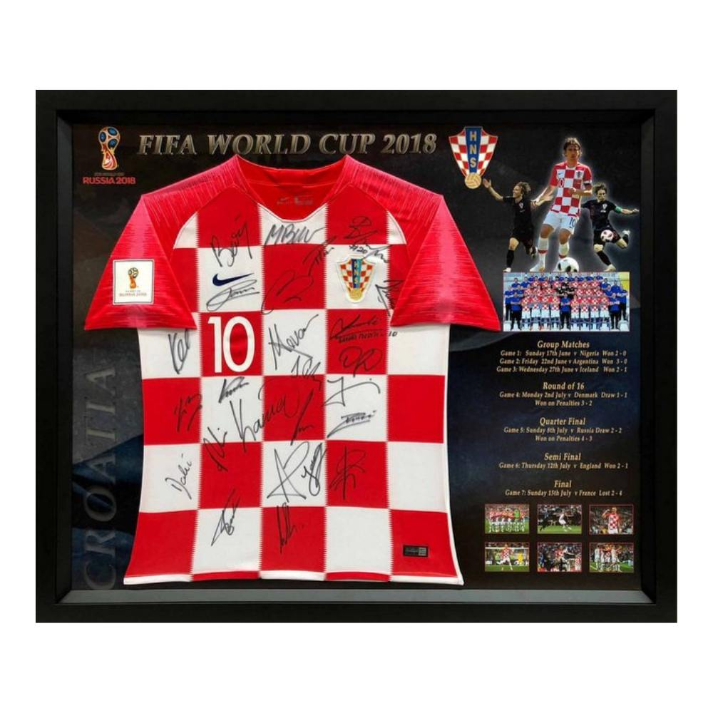 Memorabilia - Croatia 2018 FIFA World Cup Team Signed Jersey