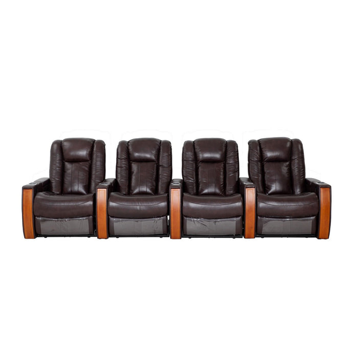 Premium Leather Executive 4 Seater Recliner - Electric