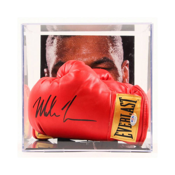 Memorabilia - Mike Tyson Personally Signed Glove With Matching Glove In Display Case
