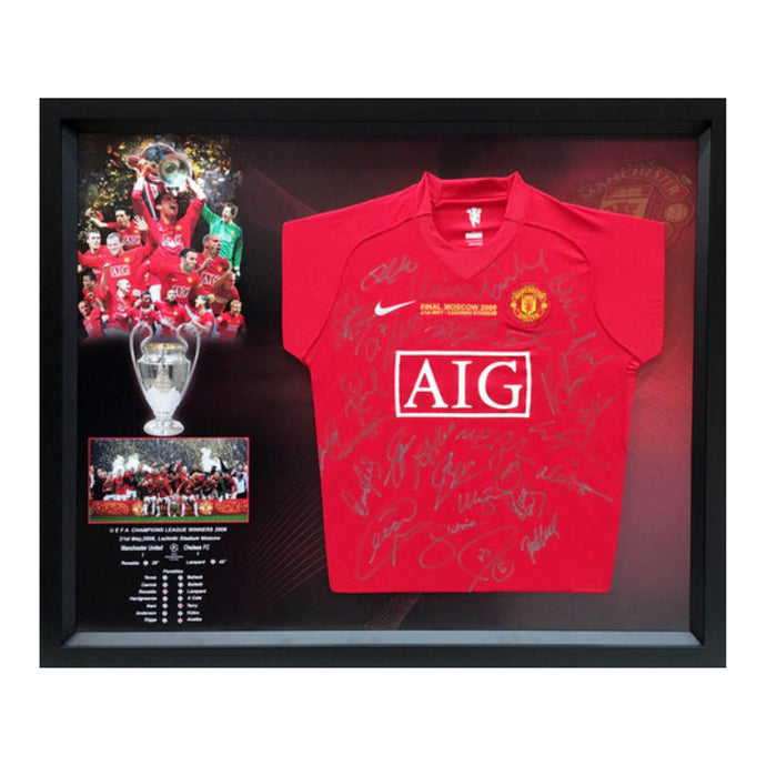 Manchester United 2008 Champions League Team-Signed Victory Jersey - GREAT PRICE