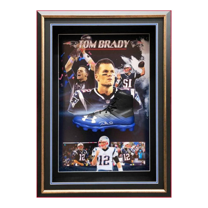 Memorabilia - Tom Brady Personally Signed NFL Cleat, Framed