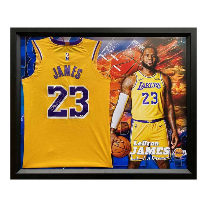 LeBron James Personally Signed LA Lakers Gold