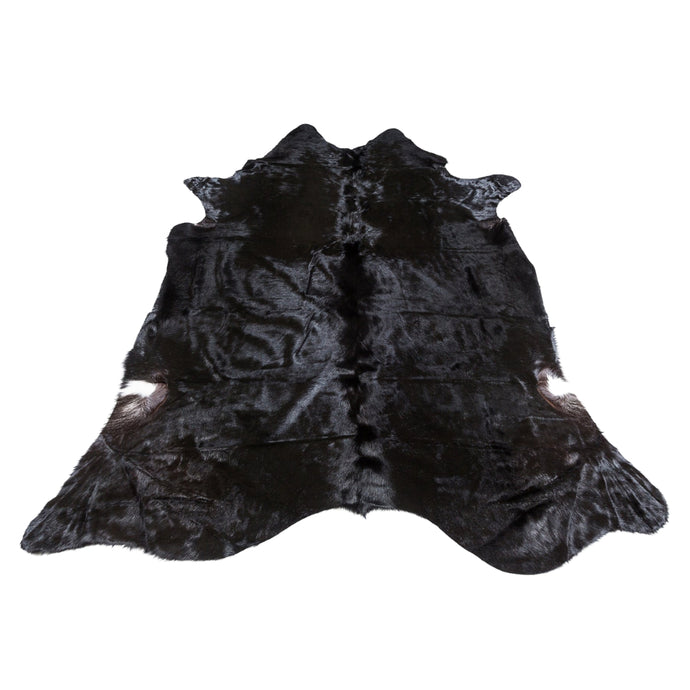 Rug - ANGUS - BLACK COLOURED LARGE PREMIUM COWHIDE RUG