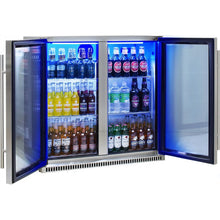 Load image into Gallery viewer, Bar Fridge - Schmick Stainless Bar Fridge 2 Door With Heated Glass And Triple Glazing Model SK190-SS 9 (BACK-ORDER FOR MID NOVEMBER)