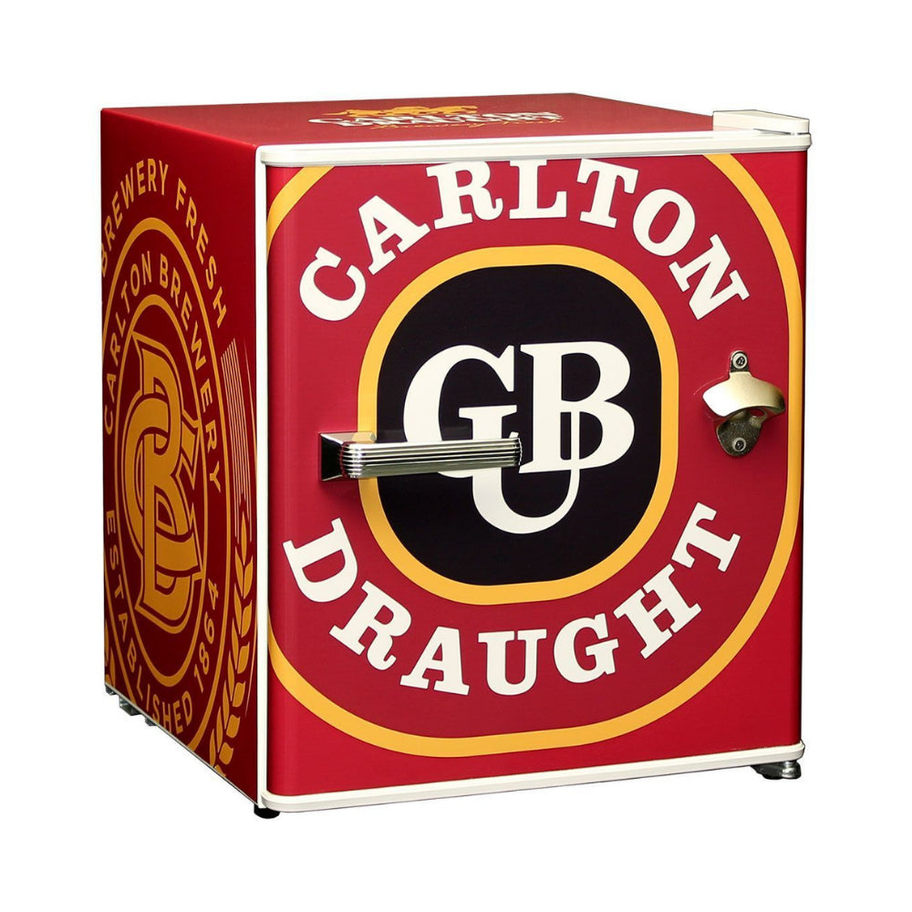 Bar Fridge - Carlton Draught Retro Mini Bar Fridge 46 Litre