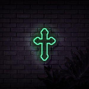 Neon Sign - CROSS NEON SIGN (DELIVERED IN 3-5WKS)