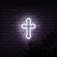 Load image into Gallery viewer, Neon Sign - CROSS NEON SIGN (DELIVERED IN 3-5WKS)