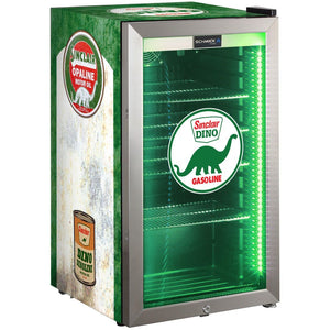 Bar Fridge - Schmick Vintage Fuel Pump Triple Glazed Alfresco Bar Fridge With LED Strip Lights