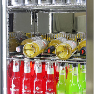 Bar Fridges - Outdoor Rhino ENVY 1 Door Bar Fridge Coldest Beer 43ºC+ Best Alfresco 316 Stainless Solid Door Quiet Right Hinge (PRE-ORDER FOR LATE OCT)