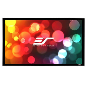 "Elite Screens 120"" Fixed Frame 16:9 Projector Screen, CineWhite, Sable Frame B2"