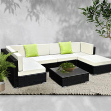 Load image into Gallery viewer, Furniture > Outdoor - Gardeon 7PC Outdoor Furniture Sofa Set Wicker Garden Patio Pool Lounge