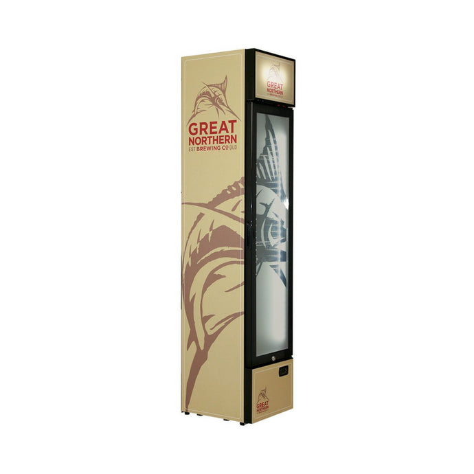 Bar Fridge - Great Northern Branded Skinny Upright Bar Fridge