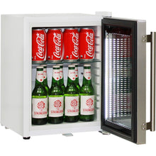 Load image into Gallery viewer, Bar Fridge - Cosmetics / Drinks White Mini Glass Door Fridge With Stainless Steel Door 23Litre Schmick Brand