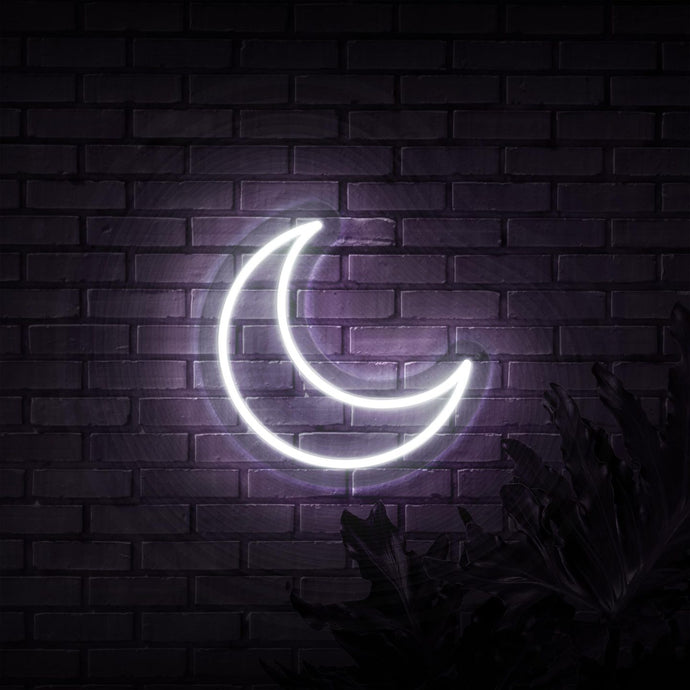 Neon Sign - HALF MOON NEON SIGN (DELIVERED IN 3-5WKS)