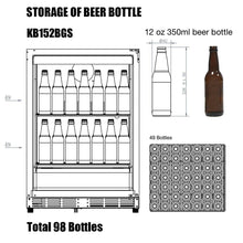 Load image into Gallery viewer, Wine Fridge - Wine Fridge And Beer Refrigerator COMBO - Under Bench