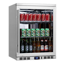 Load image into Gallery viewer, Beverage Fridge - Heating Glass Door Under Bench Beverage Fridge
