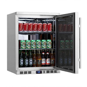 Beverage Fridge - Heating Glass Door Under Bench Beverage Fridge