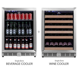 Wine Fridge - Wine Fridge And Beer Refrigerator COMBO - Under Bench