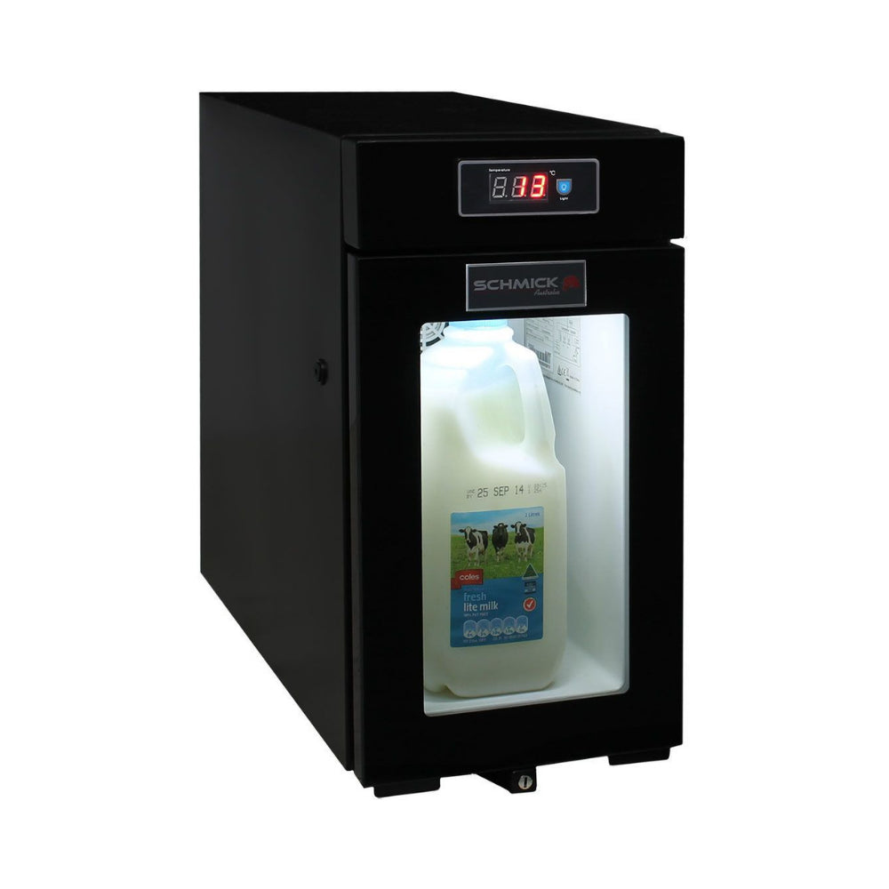 Bar Fridge - Mini Bar Fridge Made For Milk Storage Under 4°C - For Use With Coffee Machines 9Litre Schmick SK-BR9C