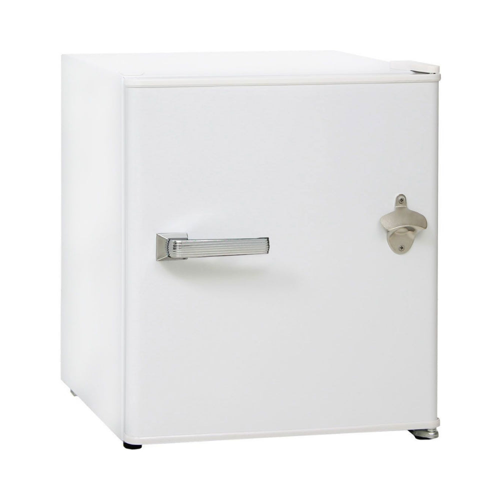 Bar Fridge - Retro White Vintage Mini Bar Fridge 46 Litre Schmick Brand With Opener