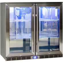 Load image into Gallery viewer, Bar Fridge - Rhino Glass 2 Door Energy Efficient Alfresco 208L Bar Fridge With LOW E Glass