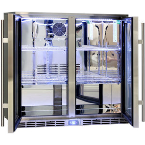 Bar Fridge - Rhino Glass 2 Door Energy Efficient Alfresco 208L Bar Fridge With LOW E Glass