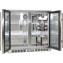 Load image into Gallery viewer, Bar Fridge - Rhino Stainless Steel 2 Door Heated Glass Bar Fridge (PRE-ORDER FOR EARLY NOV)