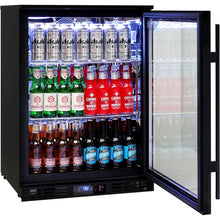 Load image into Gallery viewer, Bar Fridge - Rhino Night Club Commercial Multi Light Colored Black 1 Door Bar Fridge