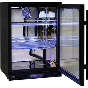 Bar Fridge - Rhino Night Club Commercial Multi Light Colored Black 1 Door Bar Fridge (PRE-ORDER FOR  LATE OCT)