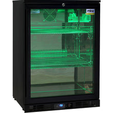 Load image into Gallery viewer, Bar Fridge - Rhino Night Club Commercial Multi Light Colored Black 1 Door Bar Fridge (PRE-ORDER FOR  LATE OCT)
