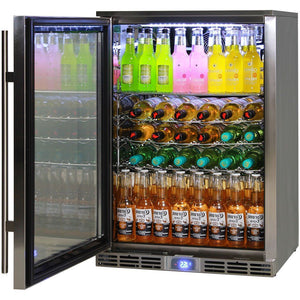 Bar Fridge - Rhino Alfresco Kitchen Glass Door Outdoor Bar Fridge Great For Cold Beer In Hot Climates