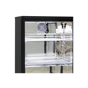 Bar Fridge - Alfresco Glass 2 Door Bar Fridge Energy Efficient