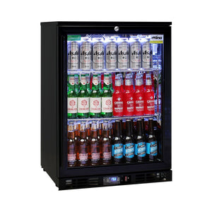 Bar Fridge - Rhino Night Club Commercial Multi Light Colored Black 1 Door Bar Fridge