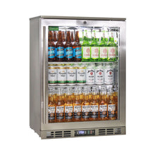 Load image into Gallery viewer, Bar Fridge - Rhino Stainless Steel 1 Heated Glass Door Bar Fridge With LG Compressor