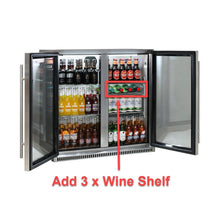 Load image into Gallery viewer, Bar Fridge - Schmick Stainless Bar Fridge 2 Door With Heated Glass And Triple Glazing Model SK190-SS 9 (BACK-ORDER FOR MID OCT)