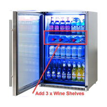 Load image into Gallery viewer, Bar Fridge - Schmick 304 Stainless Steel Bar Fridge Tropical Rated With Heated Glass And Triple Glazing Model SK118L-SS