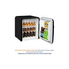Load image into Gallery viewer, Bar Fridge - Schmick Mini Retro Style Black Bar Fridge 46Litre Very Quiet -Energy Efficient And Matte Black Finish Is Nice.