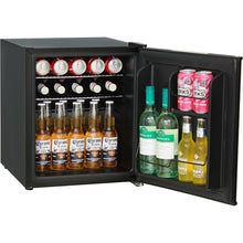 Load image into Gallery viewer, Bar Fridge - Holden HSV Retro Black Vintage Mini Bar Fridge 46 Litre Schmick Brand With Opener