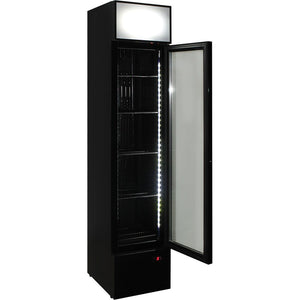 Bar Fridge - Schmick Skinny Upright Glass Door Bar Fridge Triple Glazed LOW E Glass, Lock And Brand Parts (PRE-ORDER FOR LATE OCT)