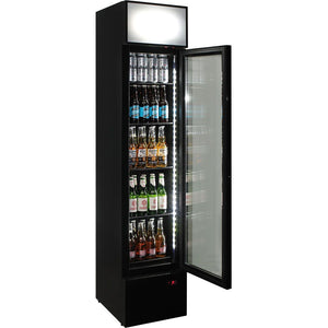 Bar Fridge - Fuel Pump Branded Skinny Upright Bar Fridge 6 Options