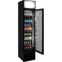 Load image into Gallery viewer, Bar Fridge - Branded Skinny Upright Bar Fridge With Telephone Box Design